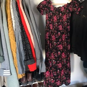 Kimchi Blue Off Shoulder Floral Dress